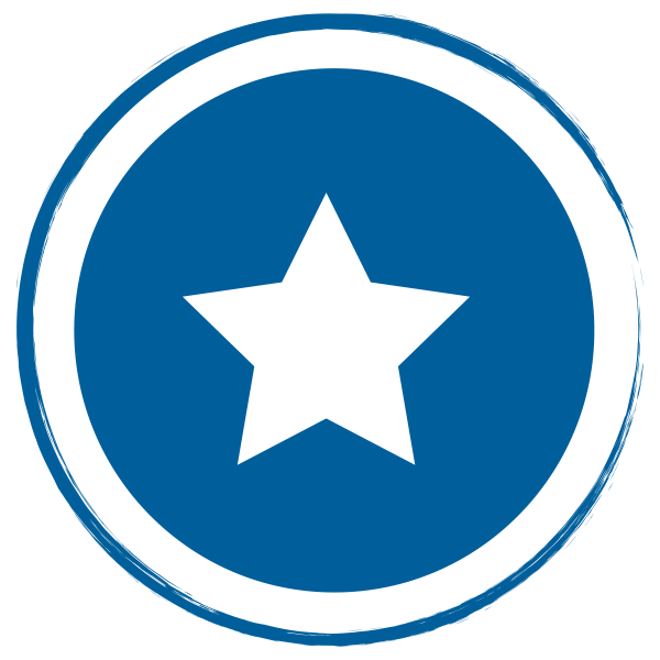 blue circle with star
